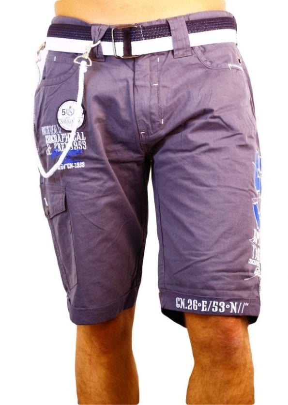 Geographical Norway Heren Bermuda Korte Broek Pinacolada Bendelli Grijs 2 Large