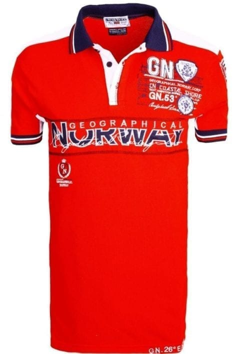 Geographical Norway Heren Poloshirts polos Kapable Bendelli Rood 18 Large