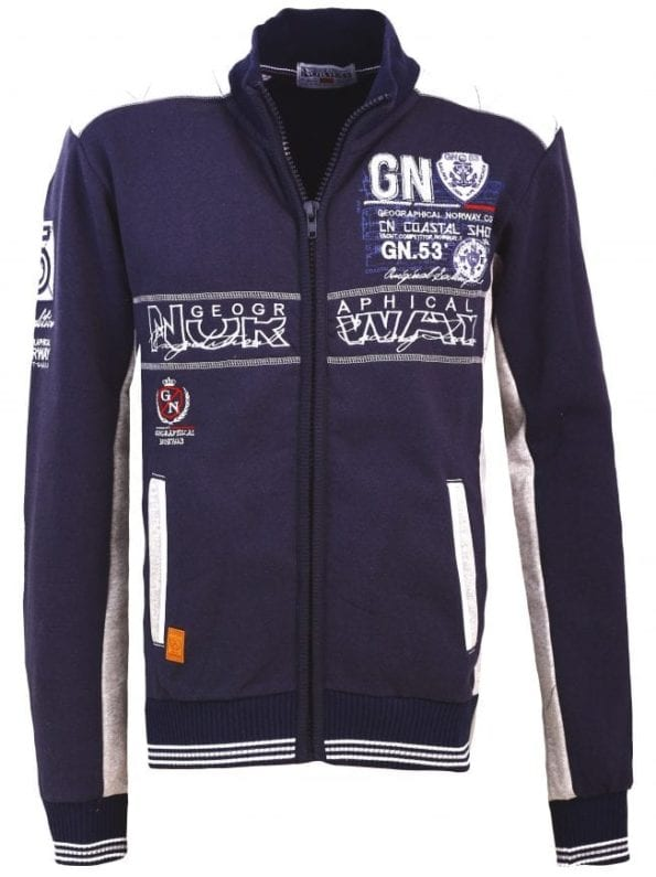 Geographical Norway Heren Sweater Fanker Blauw  18