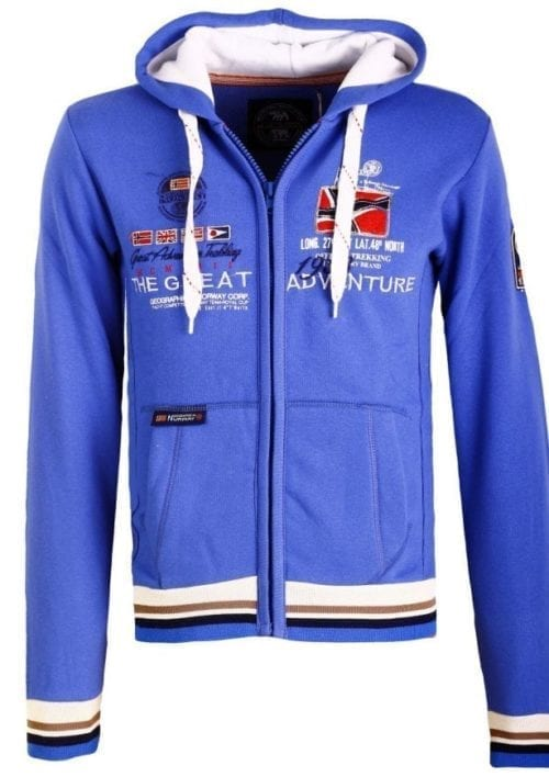 Geographical Norway Vest Sweater Grenouille Blauw 24 Large