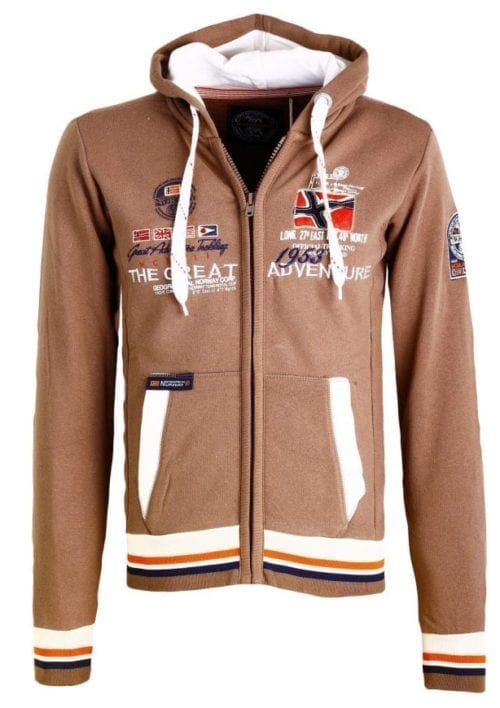 Geographical Norway Vest Sweater Grenouille Bruin 1 Large