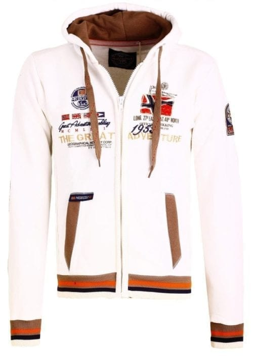 Geographical Norway Vest Sweater Grenouille Wit 2 Large