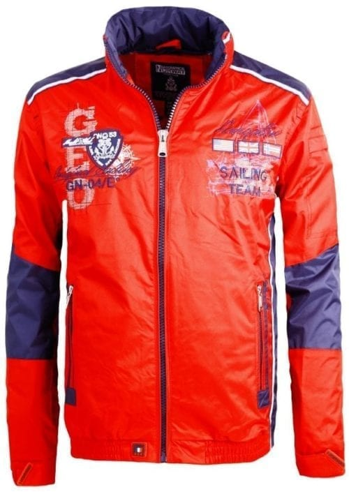 Geographical Norway Zomerjas Heren Chrome Bendelli Rood 2 Large
