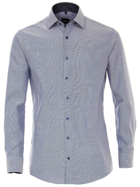 Venti overhemden heren strijkvrij edition modern fit oxford blauw 183055300 101 3 2 1