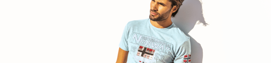 Geographical Norway t shirts heren met print home