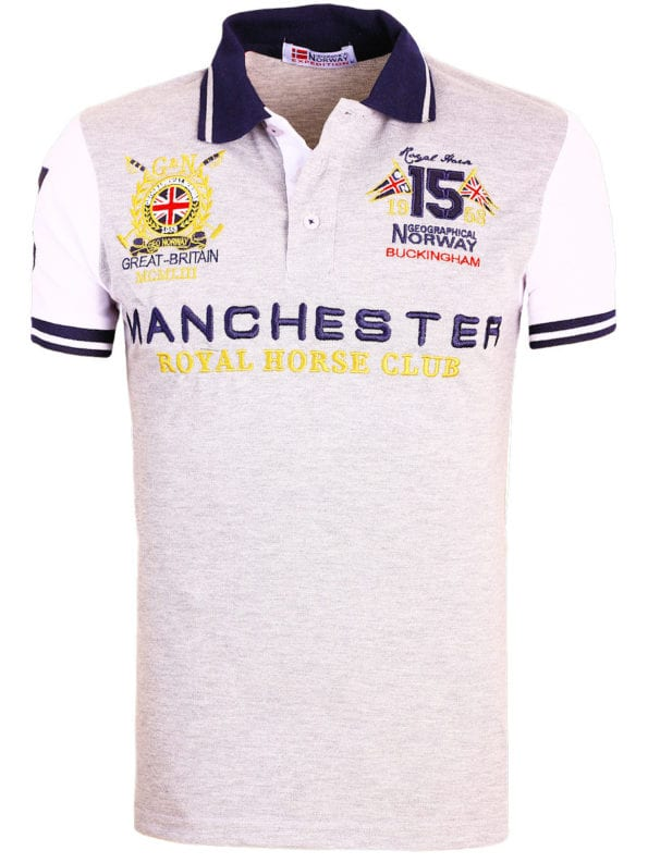 Geographical Norway Polo Shirt Grijs Kingston Manchester Buckingham Great Britain (2)