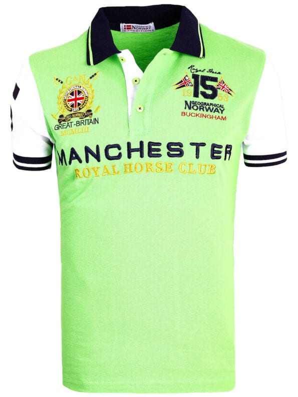 Geographical Norway Polo Shirt Groen Kingston Manchester Buckingham Great Britain (2)
