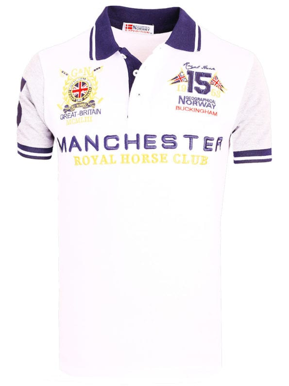 Geographical Norway Polo Shirt Wit Kingston Manchester Buckingham Great Britain (2)
