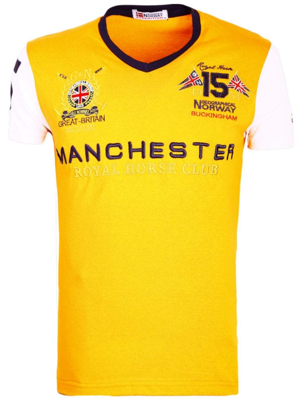 Geographical Norway Shirts t-shirt Oranje Jingston Manchester Buckingham Great Britain (8)