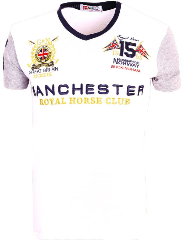 Geographical Norway Shirts t-shirt Wit Jingston Manchester Buckingham Great Britain (6)