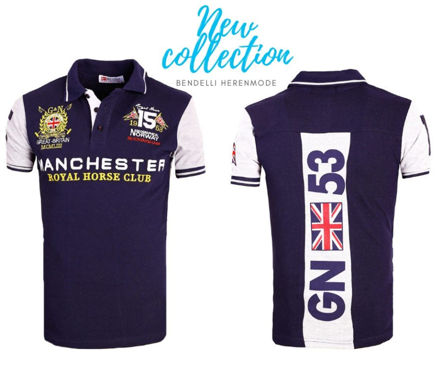Geographical Norway polo shirts Manchester blauw Kingston