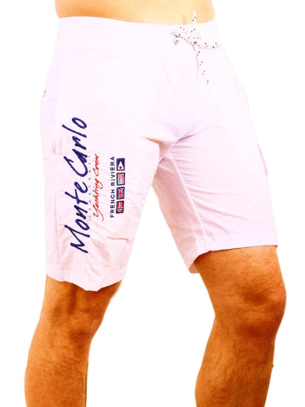 Geographical Norway zwembroek wit quaractere swimshort Bendelli (2)