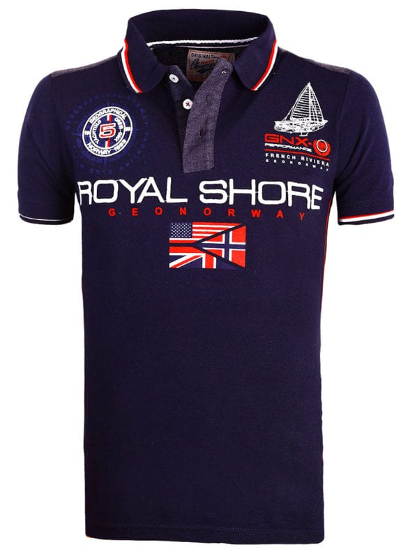Geographical Norway Polo shirt blauw heren Royal Shore Kamacho (2)