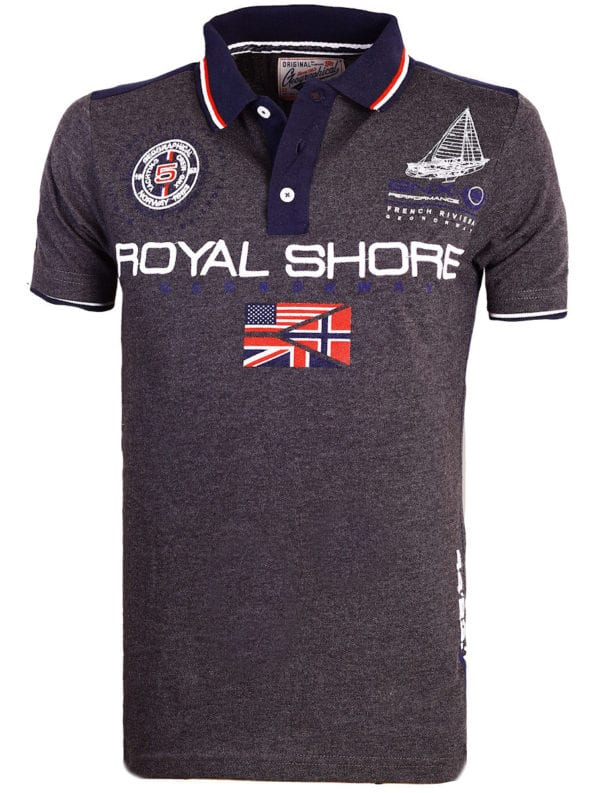 Geographical Norway Polo shirt grijs heren Royal Shore Kamacho (1)