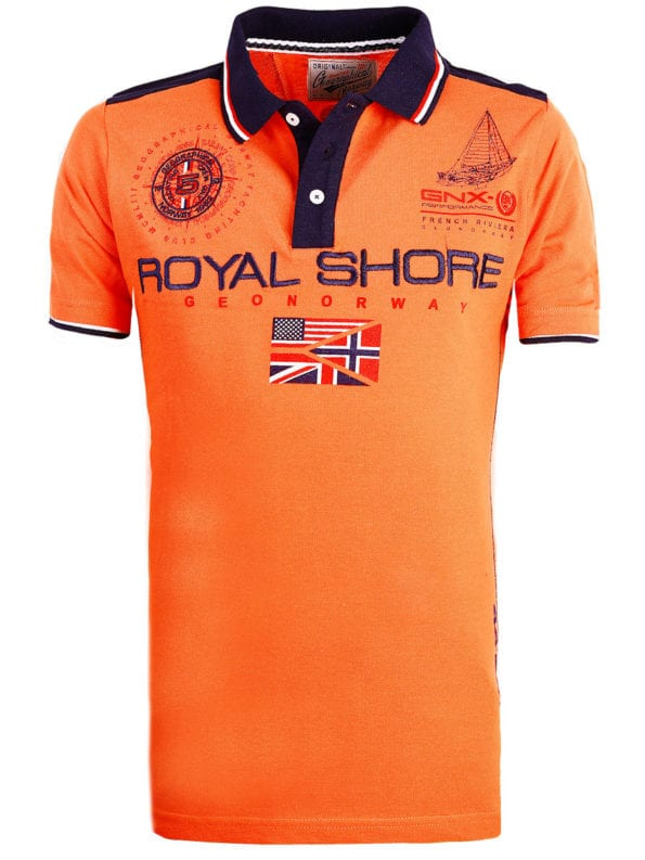 Geographical Norway Polo shirt koraal heren Royal Shore Kamacho (2)