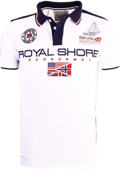 Geographical Norway Polo shirt wit heren Royal Shore Kamacho (4)