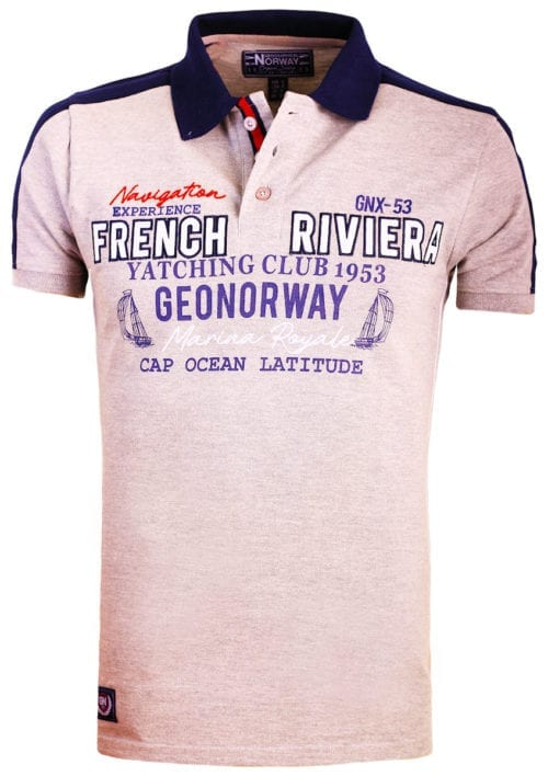 Geographical Norway polo grijs french riviera marina royal Kampus bendelli (2)