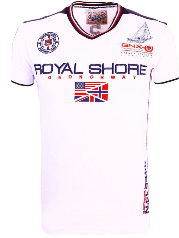 Geographical-Norway-t-shirt-heren-royal-shore-wit-jamacho-bendelli (2)