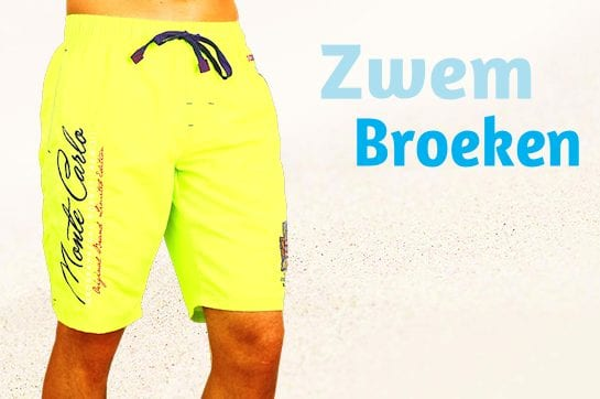 Zwembroek-Heren-Geographical Norway-Swimshort-geel
