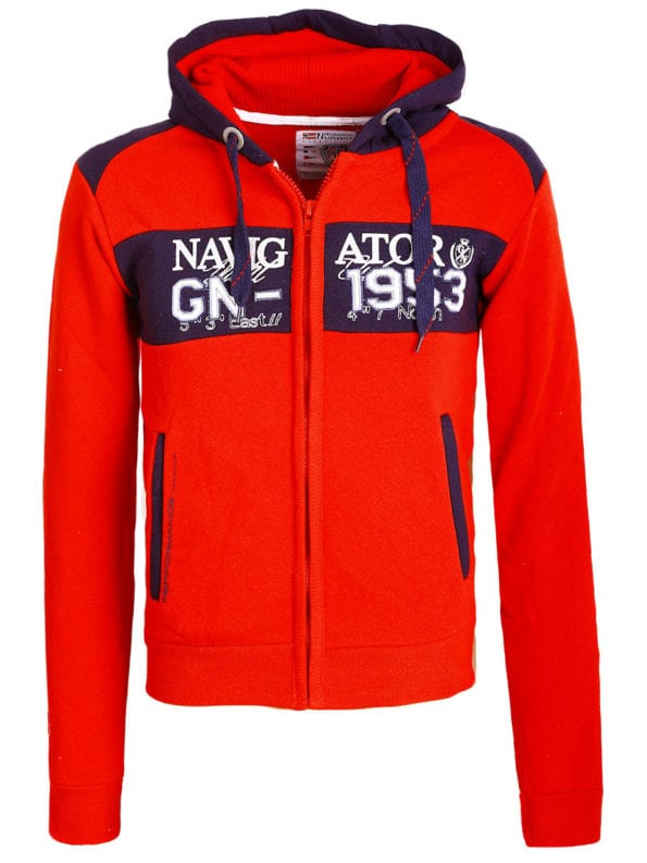 Geographical Norway Vest Rood Glapping met capuchon Navigator (2)