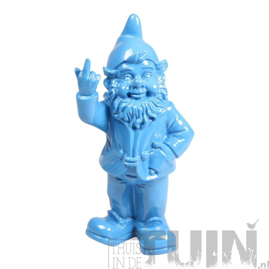 KABOUTER MIDDELVINGER BLAUW - nain le blue